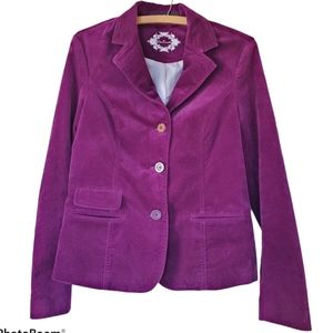 Deep purple velvet blazer